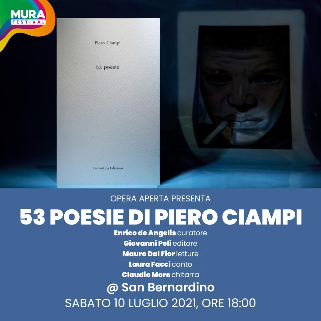 Spazio opera aperta - 53 poesie di Piero Ciampi